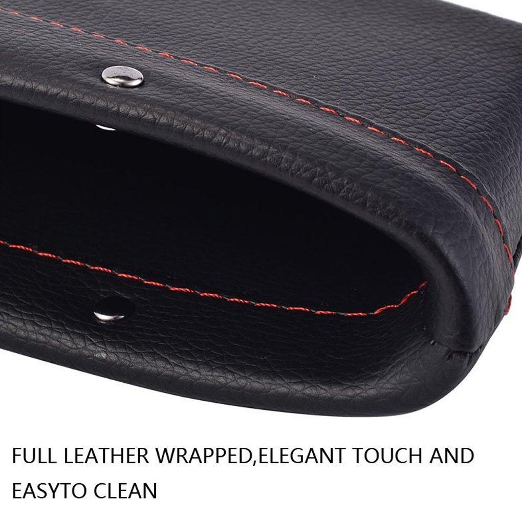 PU de cuero auto asiento Gap Filler hendidura bolsillo de almacenamiento de coches Organizador a prueba de fugas del colector Caja ranura papelera Regard
