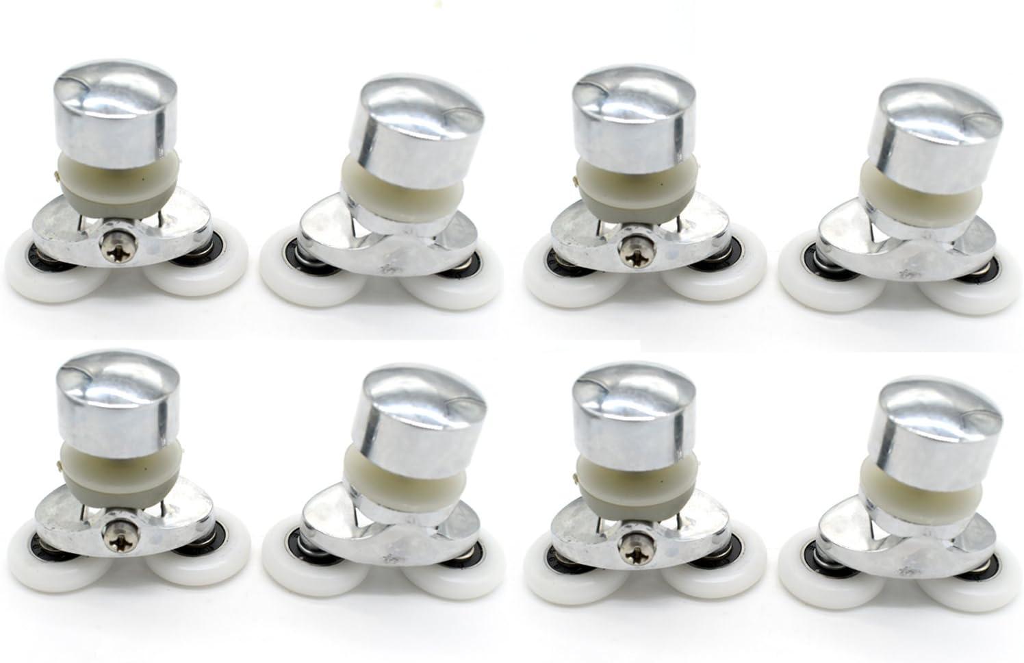Fijaciones para mampara de ducha ruedas en aleación de zinc – 4 x ...
