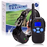 TrainPark Rechargeable Dog Training Shock Collar (2017 New Design) With Remote for Puppy, Small, Medium & Large Breeds,Waterproof e-collar With 3 Features Vibration,Shock,Beep.
