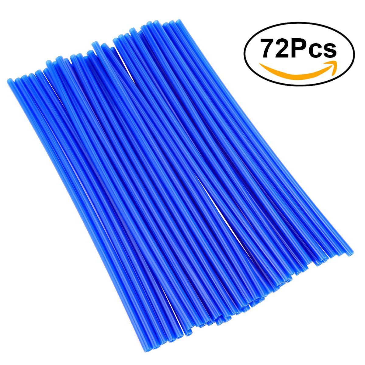 Winomo Lot de 72 couvres rayons pour vé los Bleu UROE1741581FSLN5354