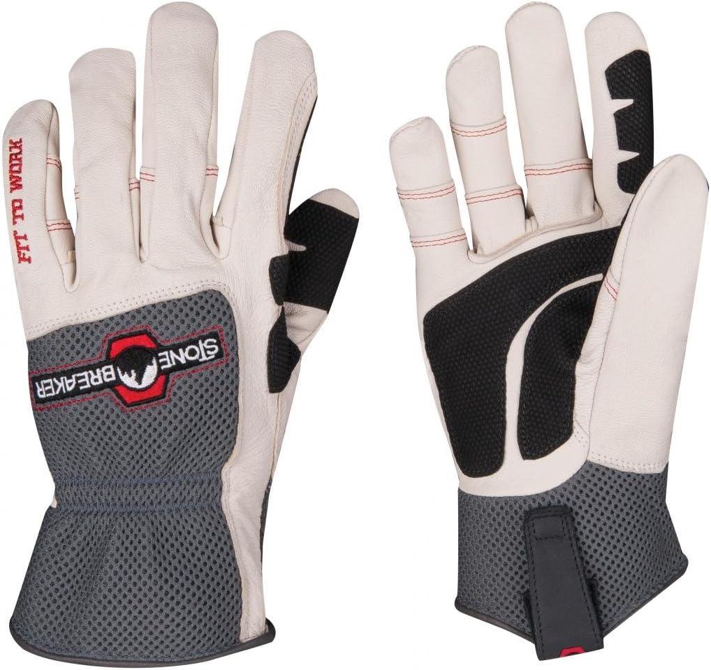 StoneBreaker Gloves Groundskeeper Medium Work Glove, Medium, Charcoal