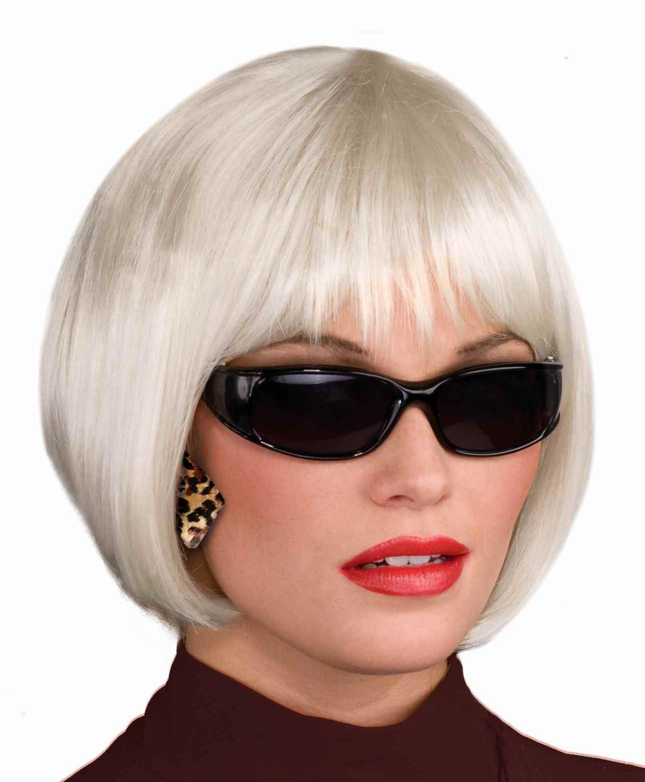 Forum Novelties Women's Chic Bob Wig, Platinum, Standard Size by Forum Novelties (Image #1)