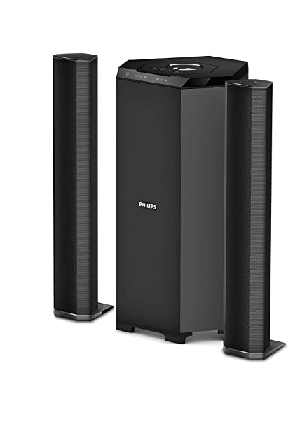 Philips MMS8085B/94 2 1 Channel Convertible Multimedia Speaker System