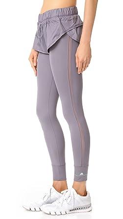 ce86e19bc777bc adidas by Stella McCartney Women's Short Tights, Trace Grey, X-Small ...