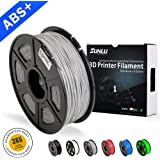 SUNLU ABS Filaments for 3D Printer-Grey ABS Filament 1.75 mm,Low Odor Dimensional Accuracy +/- 0.02 mm 3D Printing Filament,2.2 LBS (1KG) Spool 3D Printer Filament for 3D Printers & 3D Pens,Grey