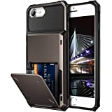 Vofolen for iPhone 6s Case iPhone 8 Wallet iPhone SE 2020 Case Credit Card Holder ID Slot Pocket Dual Layer Protective Bumper