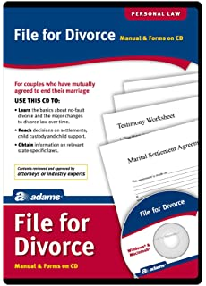 Amazon adams divorce kit forms and instructions includes adams file for divorce cd manual and forms on cd alc601 solutioingenieria Image collections