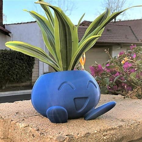Amazon.com : WBFN Flower Pots Planters Oddish Planter Oddish Flower Pot Succulent Flower Pot Plant Pot Planter (Color : Blue, Sheet Size : Middle) : Garden & Outdoor