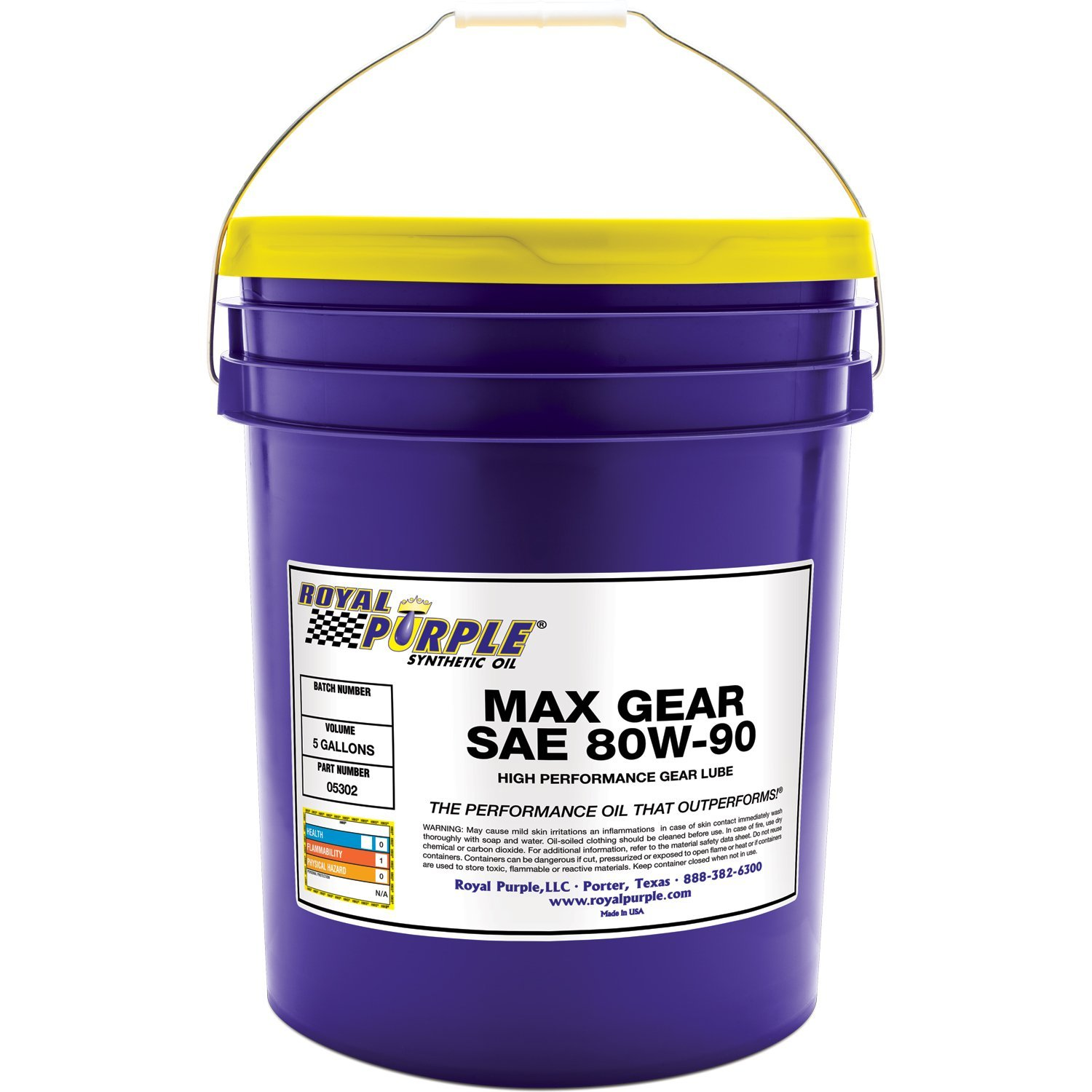 Royal Purple 05302 Max Gear 80W-90 High Performance Synthetic Automotive Gear Oil - 5 gal. by Royal Purple