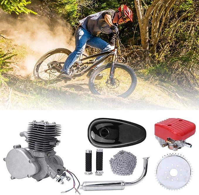Jacksking Kit de Motor de Bicicleta Kit de Motor de Bicicleta de 100cc Kit de Motor de Motor de Gas de 2 Tiempos Kit de Motor de Motor de Gas de Gasolina