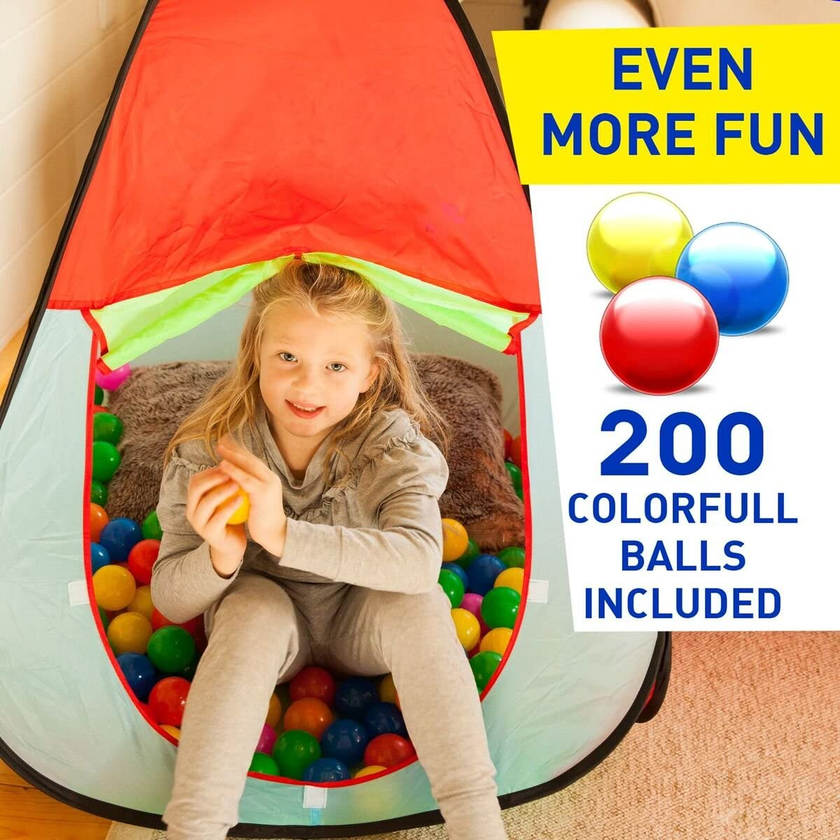 E137 100pcs Outdoor Play Colorful Colorful Tent Ball Hand-Eye Coordination