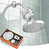 ADOVEL High Output Shower Head and Hard Water Filter, 15 Stage Shower Filter Removes Chlorine & Harmful Substances, Water Sof