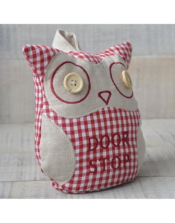 Sujeta Puerta de búho con Ojos de botón - Diseño Divertido - Hogar y más.: Amazon.es: Hogar