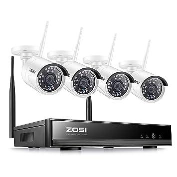 ZOSI Kit de Cámaras de Seguridad WiFi 1080P 8CH Grabador NVR + (4 ...