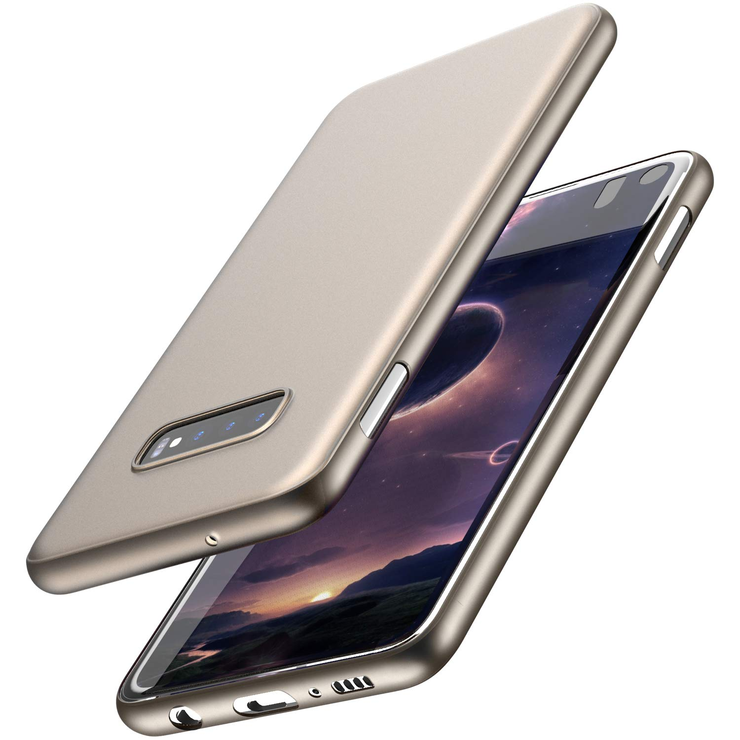 TOZO for Samsung Galaxy S10e Case 5.8 Inch (2019) Ultra-Thin Hard Cover Slim Fit [0.35mm] World's Thinnest Protect Bumper for Samsung Galaxy S10e [ Semi-Transparent ] Lightweight