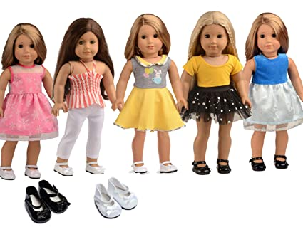 Sweet Dolly 5pc Lots Doll Clothes For 18 Dolls American Girl Dolls