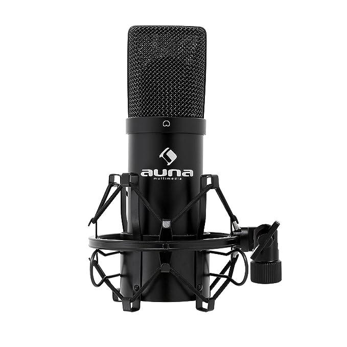 auna MIC-900B • Set micrófonos estudio V5 • Micro condensador USB • Negro: Amazon.es: Instrumentos musicales