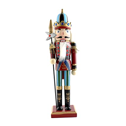 Ids Home 12 Lance Nutcracker Wooden Soldier Toys Ornaments Holiday Decoration Gifts