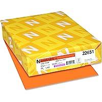 "Neenah Astrobrights Color Paper, 8.5"" x 11"", 24 lb/89 gsm, Cosmic Orange, 500 Sheets (22651)"
