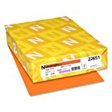 Wasusau Astrobrights Heavy Duty Paper, 24 lb, 8.5 x 11 Inches, Cosmic Orange, 500 Sheets