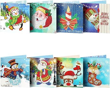 Amazon.com: Treat Me Tarjetas de Navidad 5D DIY Pintura de ...