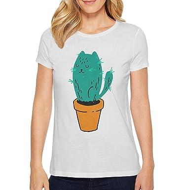 41c8a8a91 Amazon.com: cat paw Summer Basic Short Sleeve tee Shirts for Women ...