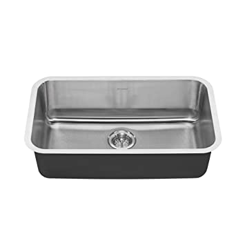 american standard 18sb 9301800s 075 portsmouth undermount 30x18 single bowl kitchen sink stainless american standard 18sb 9301800s 075 portsmouth undermount 30x18      rh   amazon com