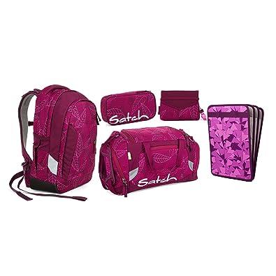 051f702263d82 Satch Sleek Purple Leaves Schulrucksack Set 5tlg. Beauty   The ...