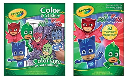 PJMASKS PJ MASKS Coloring Sticker and activity Fun books Bundle from Crayola