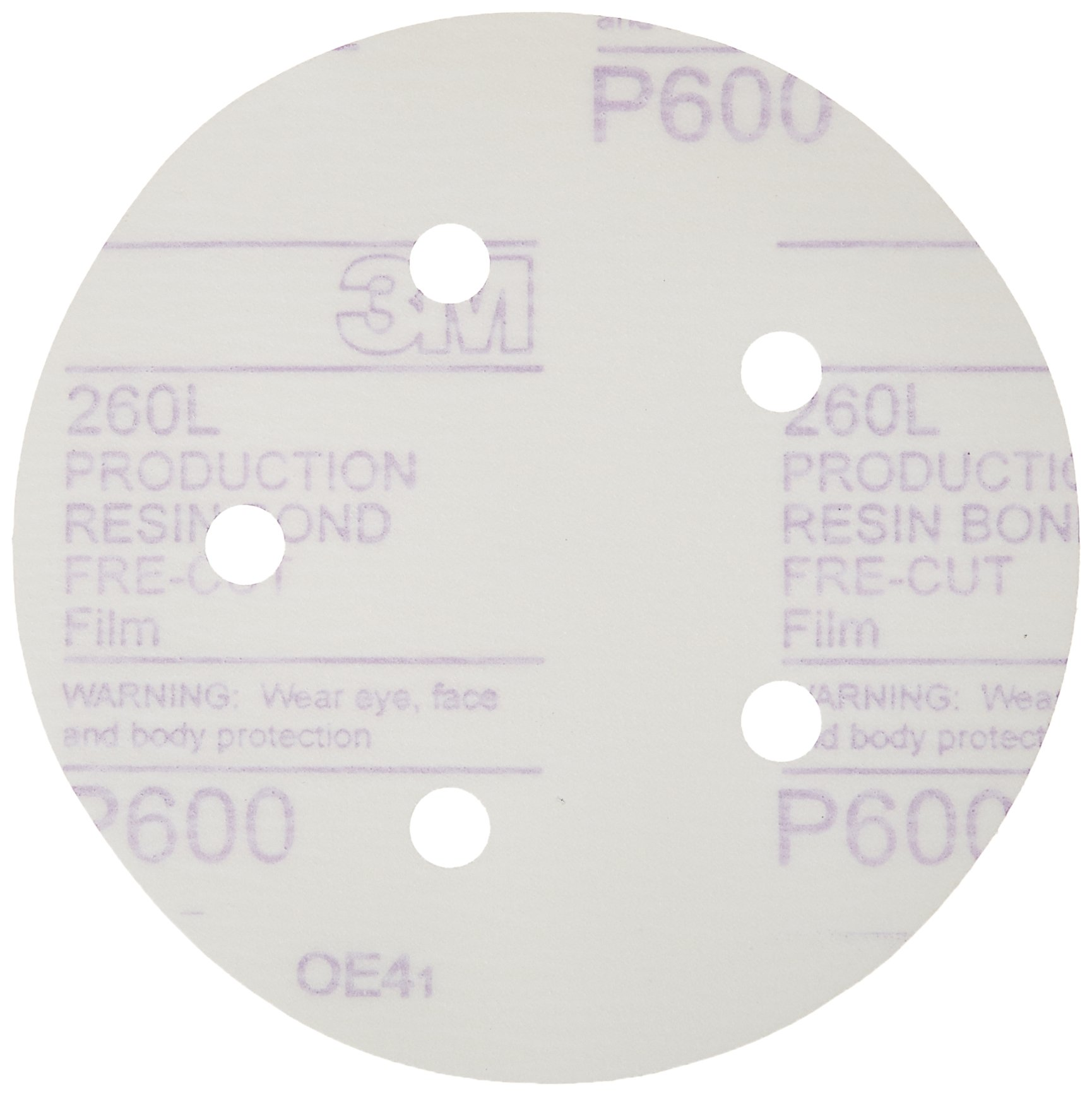 3M 01055 Hookit 5'' P600 Grit Dust-Free Finishing Film Disc by 3M (Image #1)