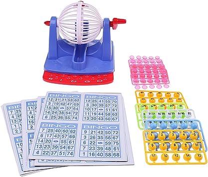 Juego De Bingo Infantil con Jaula De Plástico De 8