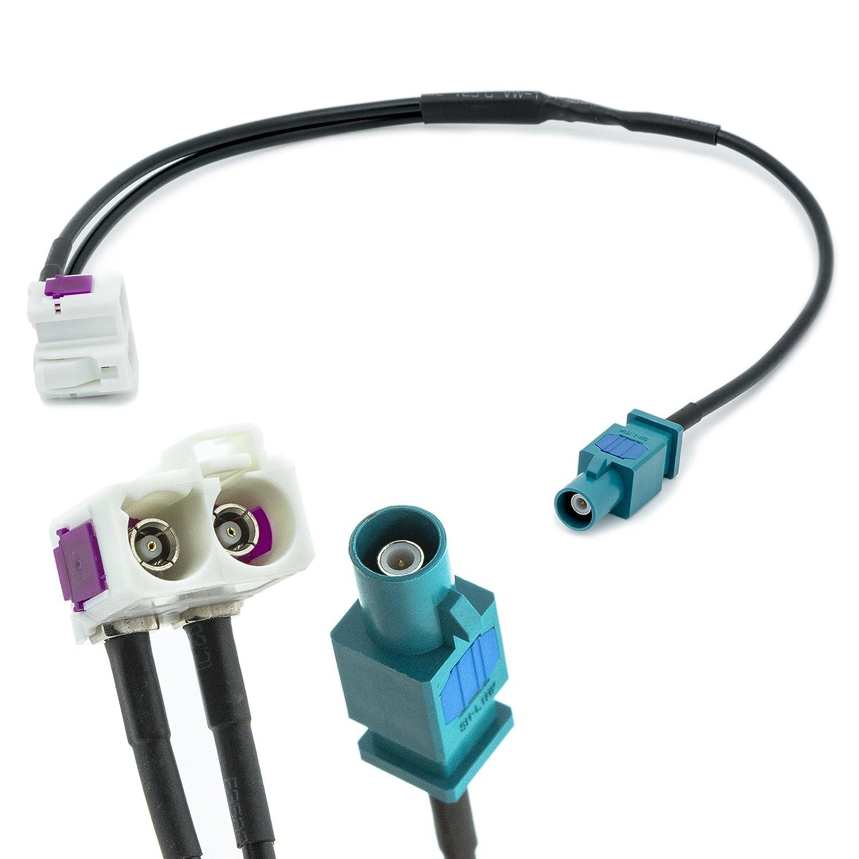 Adapter-Universe® Adaptateur d'antenne Fakra double prise femelle (Z) et prise mâle unique, distributeur, universel, pour voiture 1299