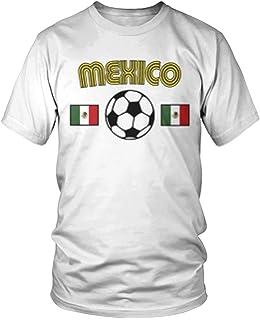 Amdesco Mens Mexico Soccer, Love Mexican Futbol Football T-Shirt