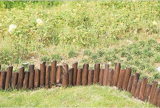 ZHANWEI Valla de jardín Bordura de jardín Forma Ajustable Al Aire Libre Jardinería Césped Madera Maciza Paneles De Borde De Borde, Tamaños Múltiples (Color : Brown, Size : 120x60/70cm): Amazon.es: Jardín