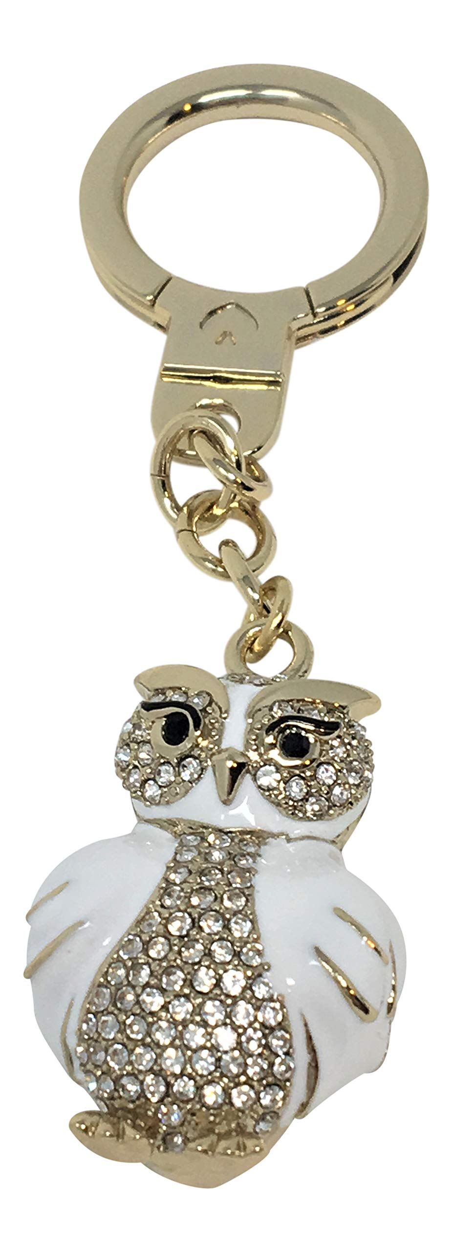 Kate Spade Jeweled Owl Key Chain Bag Charm WORU0267 White by Kate Spade New York
