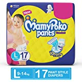 MamyPoko pants standard Pant Style diapers Large Size Diapers (17 Count)