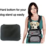 Eugene's Front Pet Carrier, Dog Backpack Bag, Free Your Hands. Use as: Dog Carrier, Cat Carrier, Carrier For Small pets. New Generation of Dog Carriers. Size: medium, color: grey