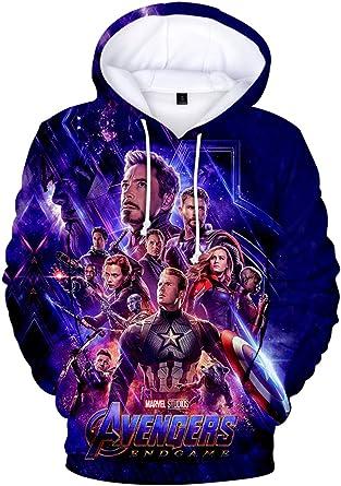 Yimiao Avengers Endgame Sweat-Shirts Unisex Superhero Cosplay Iron Man Costumes