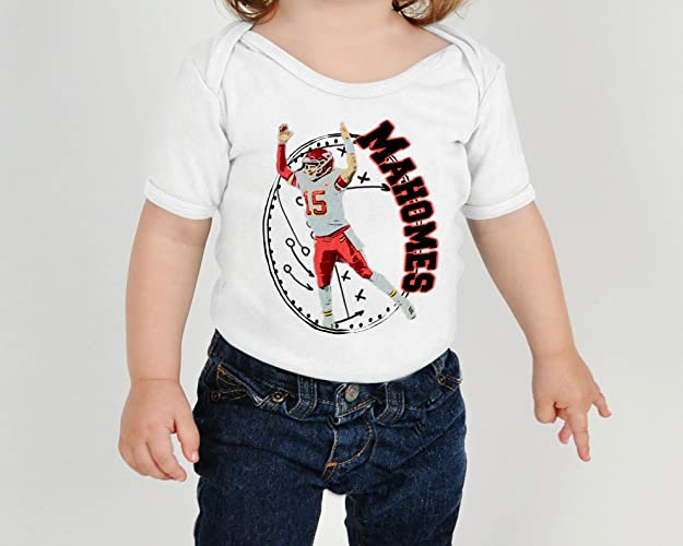 a8ba67608fe Amazon.com: Kansas City Chiefs Patrick Mahomes Mahomie Baby Bodysuit Onesie  Toddler Kids Tshirt Tee KC Football: Handmade