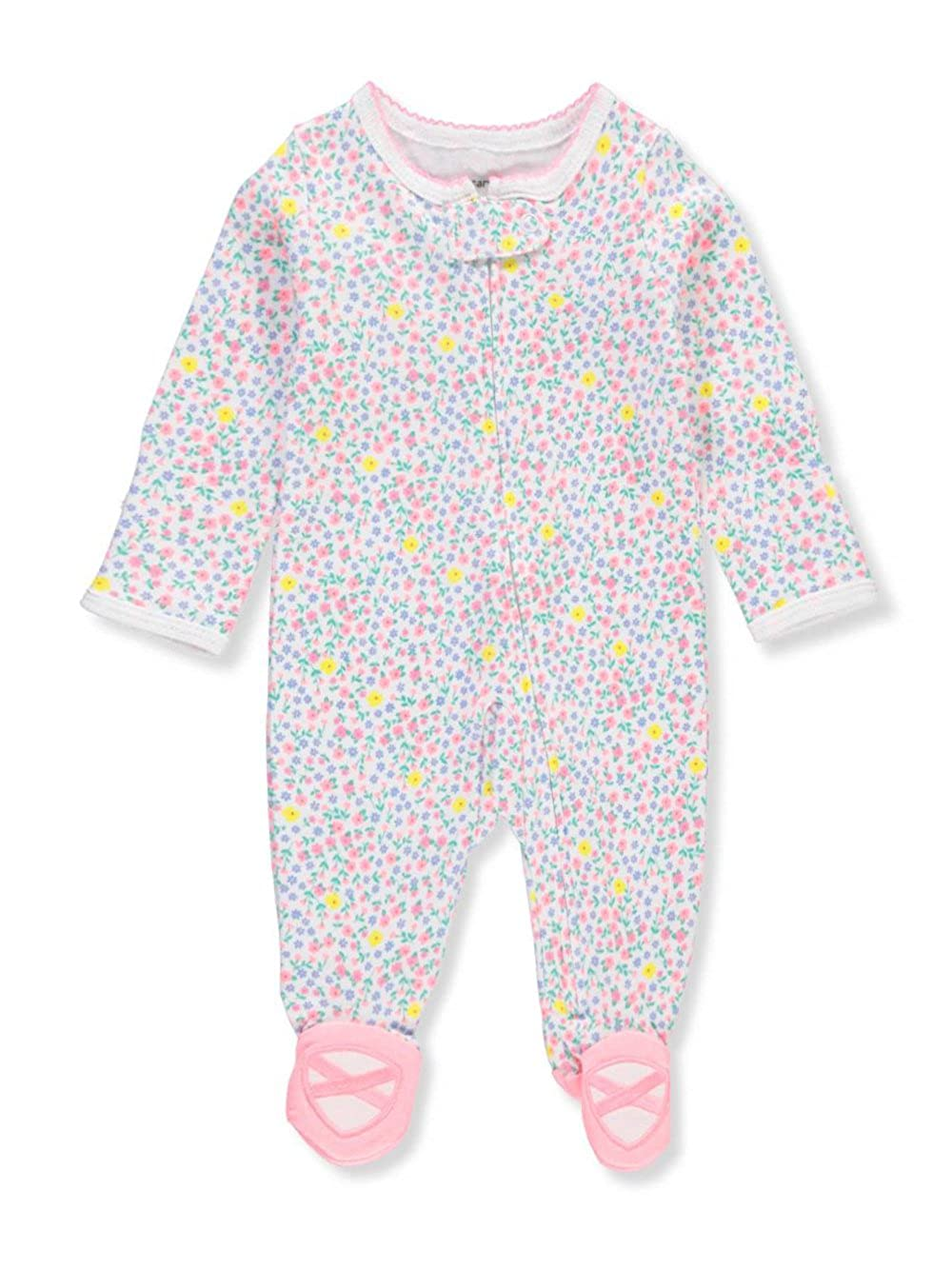 6dd6ff8399e6 Amazon.com  Carter s Baby Girls  Zip up Floral Cotton Sleep and Play ...