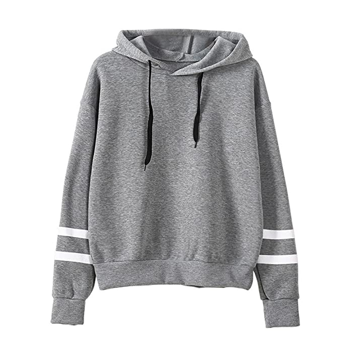 LILICAT Damen Hoodie Sweatshirt Casual Solid Tunika Frauen Elegant Jumper  Mit Kapuze Pullover Sport Sweat- 862393d75a