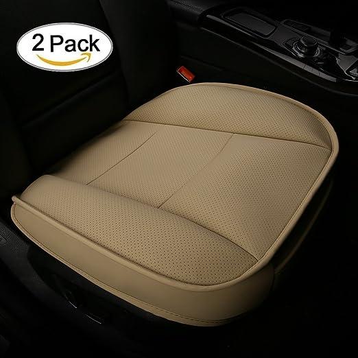 Cojín del asiento de coche, CONMING PU cuero Transpirable Cómodo Antideslizante Asiento de Coche de Salud Cojín para Four Seasons Universal 20.87