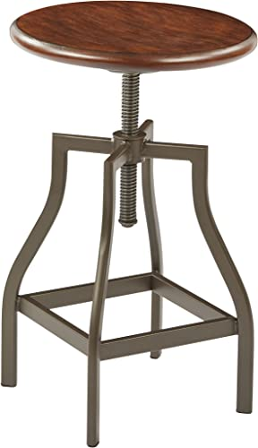 Ave Six Sullivan Swivel Stool, Pewter Walnut