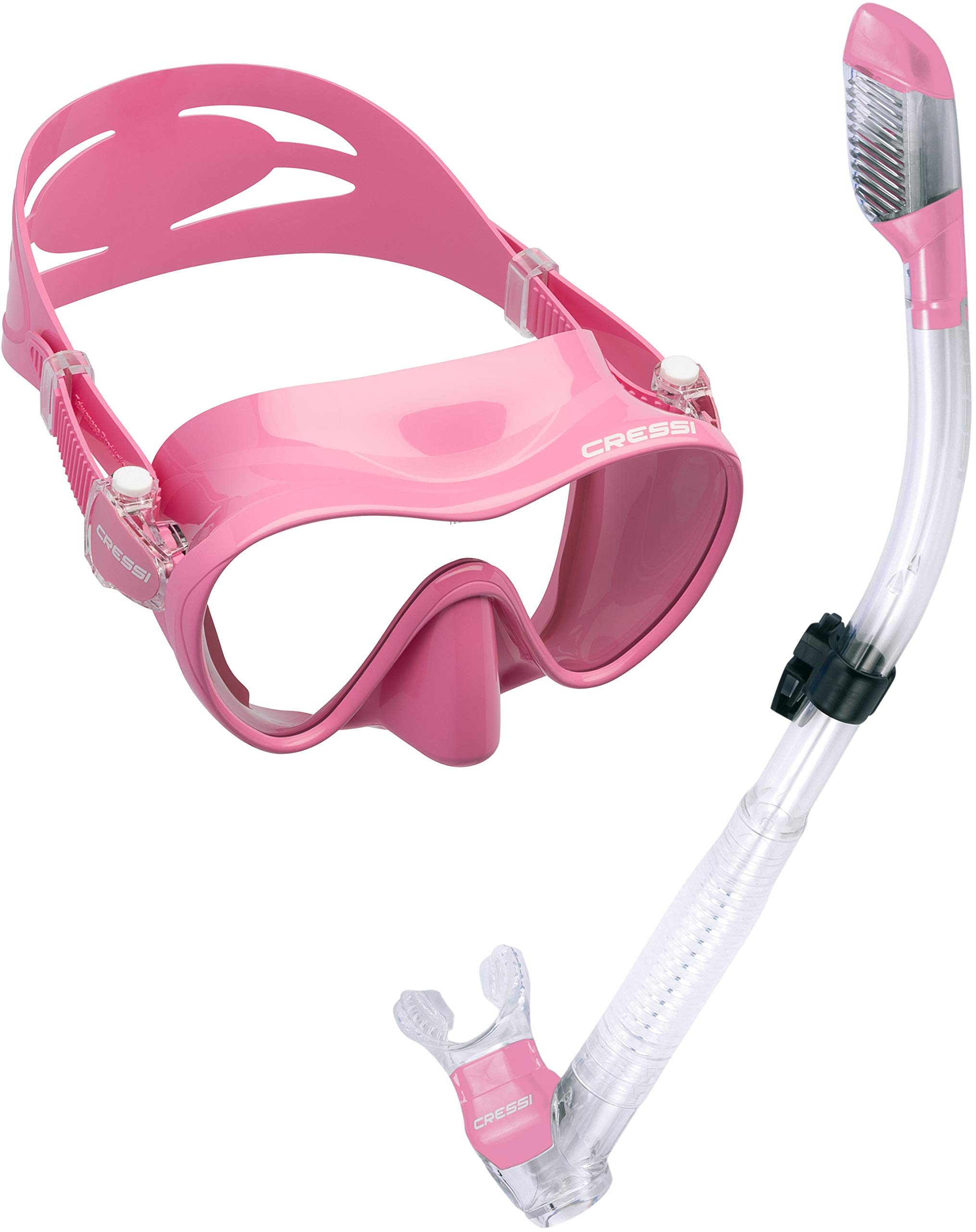 Cressi Scuba Diving Snorkeling Freediving Mask Snorkel Set, Pink by Cressi