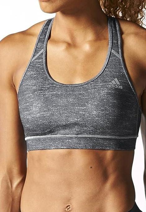 Sujetador deportivo para mujer de Adidas, gris, talla XS: Amazon ...