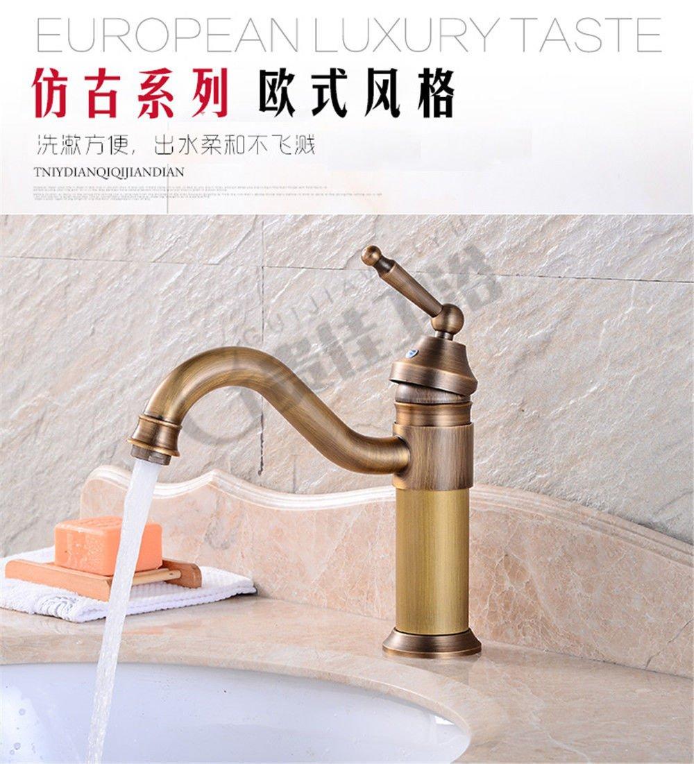 Suministros de limpieza y saneamiento YSRBath Modernos Grifos del Fregadero del Cuarto de baño Orificio único de antigüedades Cocina Mezclador Grifos de Lavabo