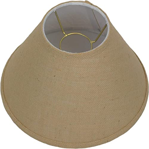 FenchelShades.com Lampshade 5 Top Diameter x 12 Bottom Diameter 8 Slant Height with Chimney Attachment USA Made Burlap Natural