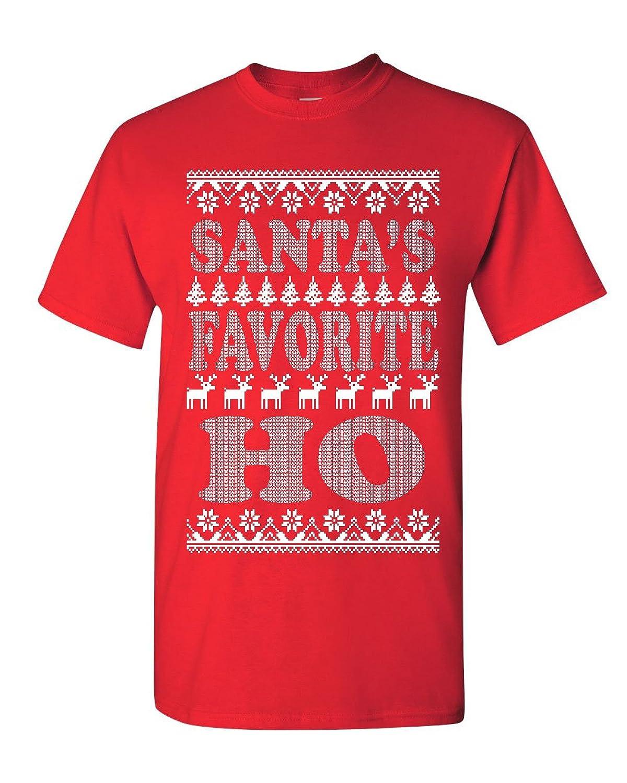Santa-s Favorite Ho T-Shirt Funny Ugly Sweatshirt Tee Shirt