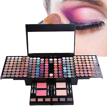 MUUZONING Paleta de Sombras de Ojos 180 Colores de Maquillaje Set Kit de alta Calidad Cosmético, Paleta De Sombras De Ojos Profesionales - Juego de Maquillaje Belleza de Regalos de Navidad #1: