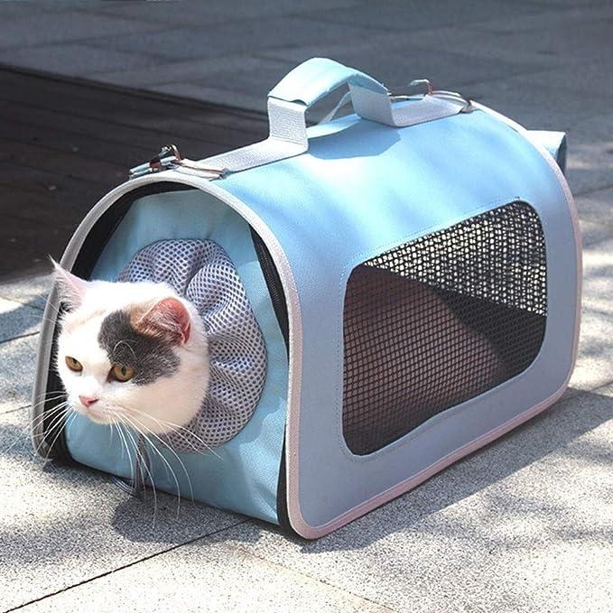 Rjj 猫バッグペットバックパックポータブルカラーペットの潮バッグショルダーバッグケージバック包装猫用品バッグS-L 便利な (色 : Black, Size : S)